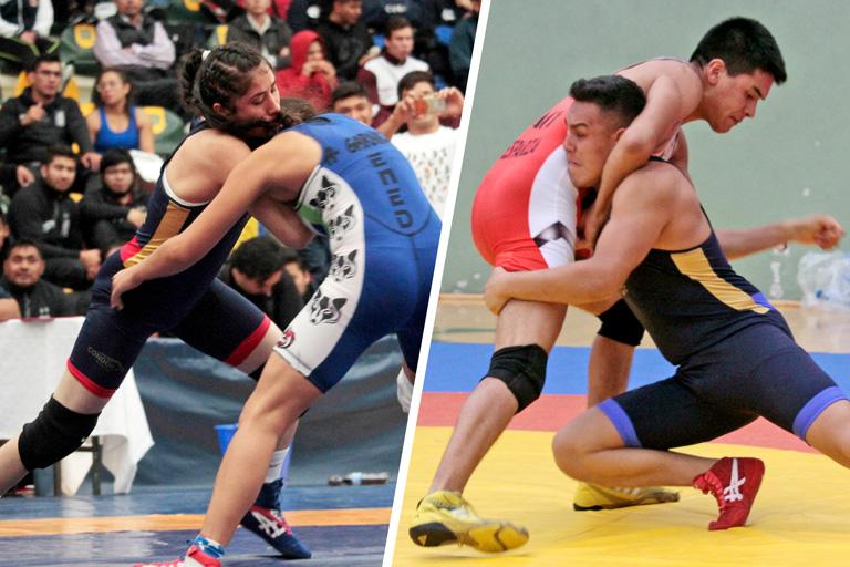 Ambos luchadores, monarcas en la última Universiada Nacional.