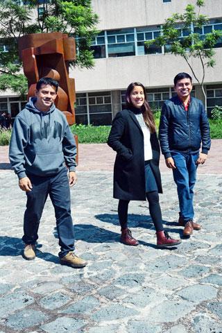 León García, Perla Liliana Chávez y Miguel Ángel Sosme. Foto: Francisco Cruz.