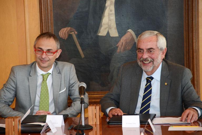 Ricardo Rivero y Enrique Graue. Foto: Benjamín Chaires.