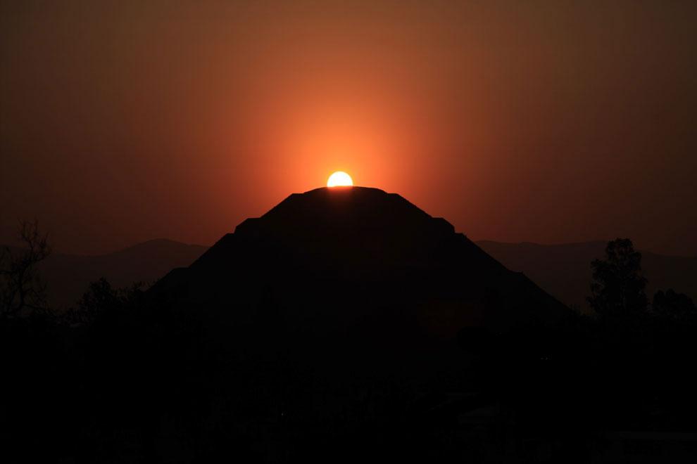 Pirámide del Sol. 7 de febrero de 2014. Foto: Daniel Flores.