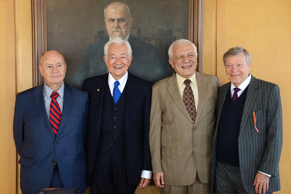 Ignacio Ramos, Julián Güitrón, Eduardo López Betancourt y Eduardo Luis Feher. Fotos: Benjamín Chaires.