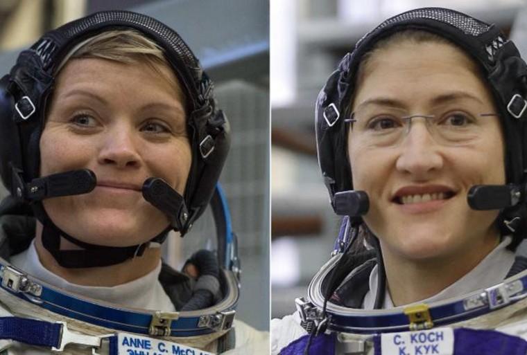 Anne McClain y Cristina Hammoock Koch