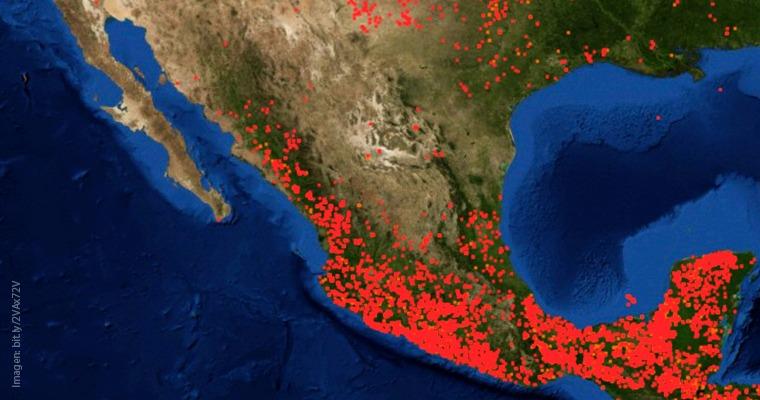 Incendios en México vistos desde satélites de la NASA