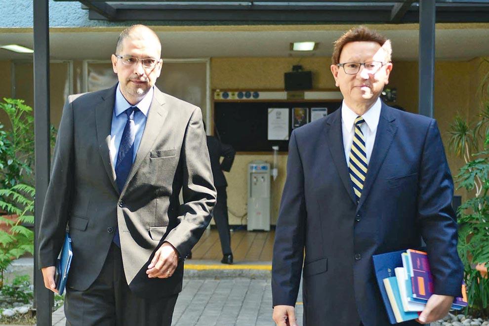 Miguel Armando López y Alberto Vital. Foto: Francisco Cruz.