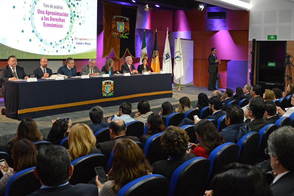 En el Auditorio Héctor Fix-Zamudio.  Foto: Benjamín Chaires.